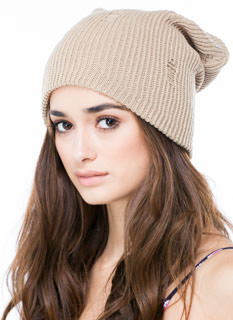 Bad Hair Day Distressed Knit Beanie
