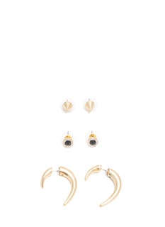 Punk Maven Spiky Earring Set