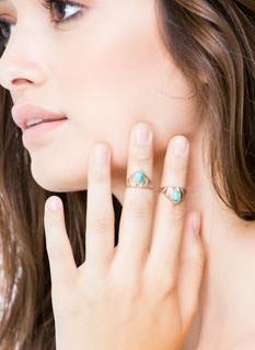 Drops Of Jupiter Crown Midi Ring Duo