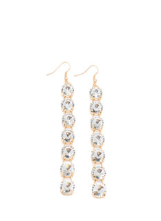 Missing Spark Faux Jewel Dangle Earrings
