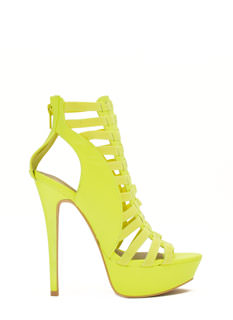 Ladder To The Top Caged Heels