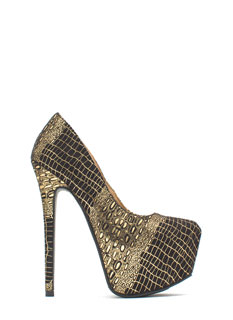 Wild Statement Platform Stiletto Heels