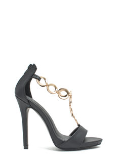Around The Ring Faux Leather Heels