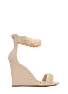 Layered Scales Faux Leather Wedges