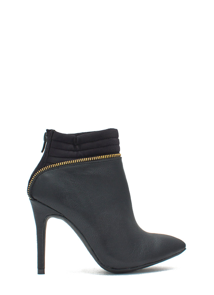 Zipping Around Padded Cuff Booties