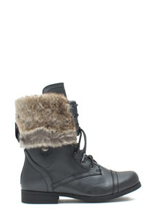 Prowler Faux Fur Lined Combat Boots