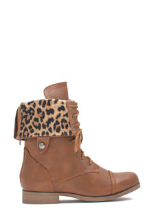 Prowler Leopard Lined Combat Boots