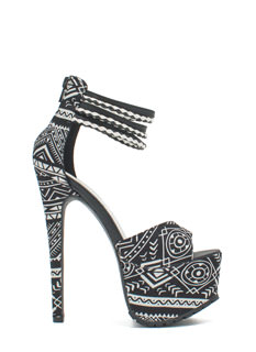 Tribal Necessity Rugged Platform Heels