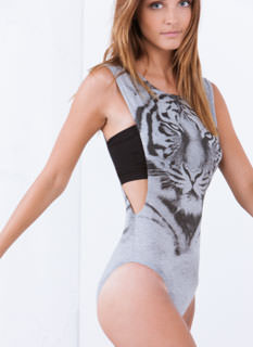 Eyes Of The Tiger Muscle Bodysuit
