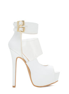 PVC You Soon In Peep-Toe Platforms