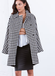 Check This Houndstooth Coat
