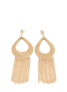 Chain-ge Ur Ways Boho Chain Fringe Earrings