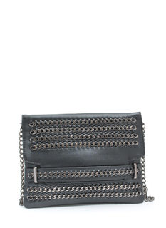 Badassery Faux Leather 'N Chains Clutch