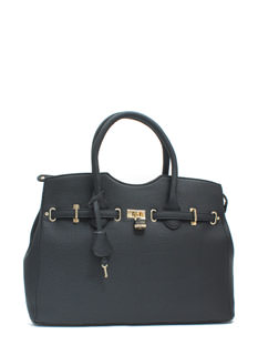 Lockdown Pebbled Faux Leather Bag