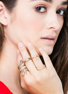 Come Slither Textured Ring Set