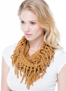 Holey Grail Knit Infinity Scarf