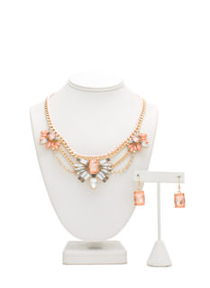 Garden Glamour Faux Jewel Necklace Set