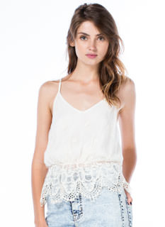 Romance Me Crochet Trim Lace Top