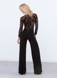 Lacy In Love Sheer Back Palazzo Jumpsuit