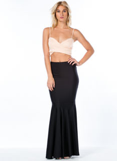Mermaid For You Shiny Nylon Maxi Skirt