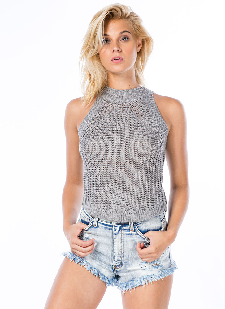 Cuddle Worthy Cable Knit Tank