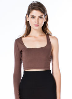 One-Sleeve Wonder Cropped Top