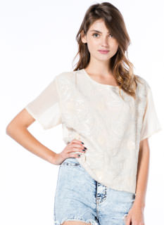 Possibilities Sequined Boxy Blouse
