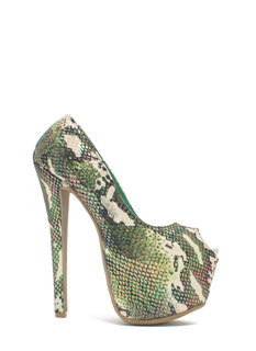 Scale Of A Time Iridescent Camo Heels