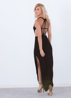 Like A Diamond Back Maxi Dress