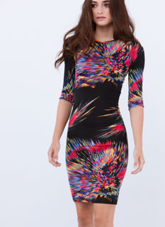 Feeling Sparks Firework Print Dress