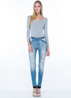 Destruction Zone Skinny Jeans
