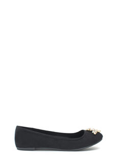 Life Of The Party Bejeweled Faux Suede Flats