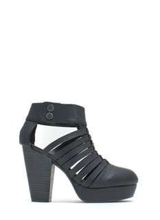 Mind The Straps Faux Leather Booties