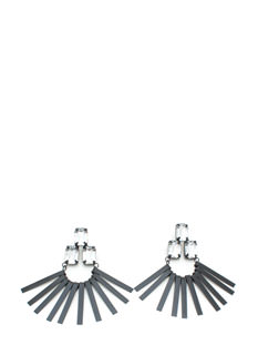Fringe Benefits Faux Jewel Earrings