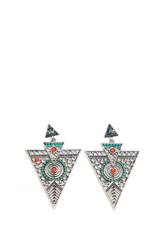 Rep Ur Tribe Cut-Out Earrings