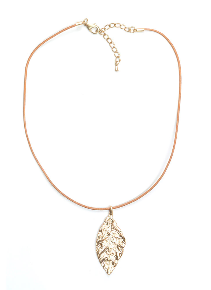 Leaf It Be Leather Necklace