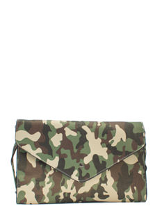 Camo In Plain Sight Envelope Clutch