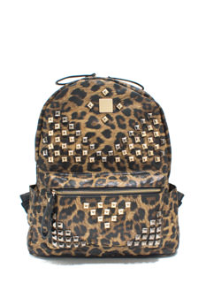 Stand Out Studded Leopard Backpack