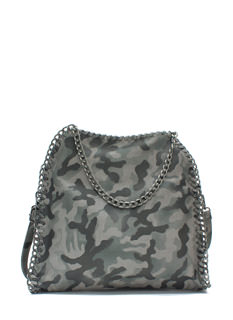Be Seen Faux Leather 'N Chains Handbag