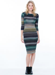 Zig When Others Zag Midi Dress