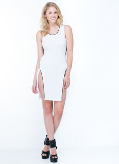 Good Sport Mesh Double Slit Dress