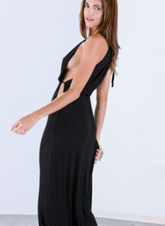 With Arms Wide Open Side Halter Maxi