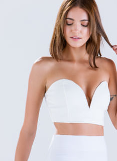 Sugar 'N Spice Sweetheart Cropped Top