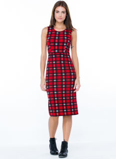 Mad 4 Plaid Midi Dress