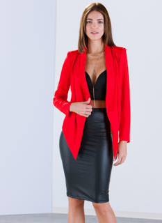 Chasing Waterfalls High-Low Blazer