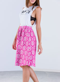 Damask Me A Question A-Line Midi Skirt