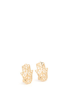 Use Protection Cut-Out Hamsa Earrings