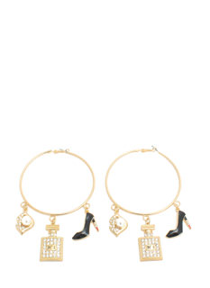 Girls' Night Out Charm Hoop Earrings