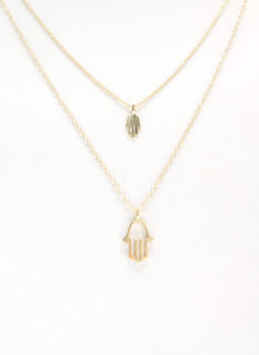 Use Protection Hamsa Necklace