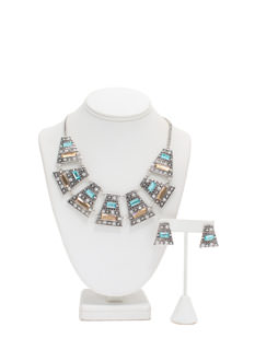 Tribal Glam Bib Necklace Set